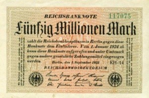 50millionreichsmark 300x199 Creating Wealth With Inflation   Lessons from Weimar Germany