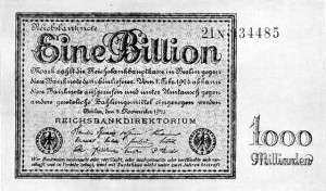 Eine Billion Reichsmark 300x176 Creating Wealth With Inflation   Lessons from Weimar Germany
